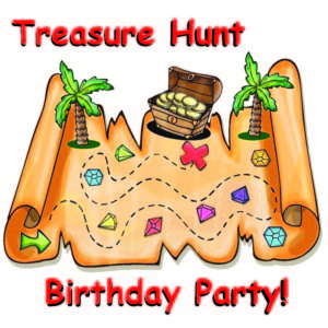a kids birthday party treasure hunt map
