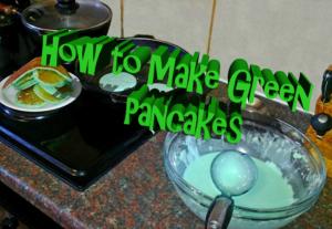 freshly made green pancakes