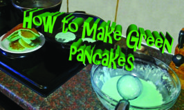 How to make Green Pancakes and Blue Coffee