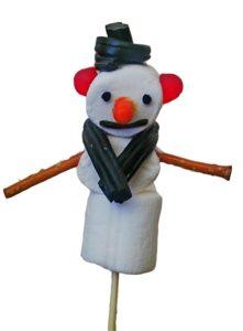 marshmallow snowman food art
