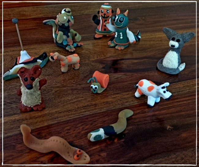 cool animals kids made from clay