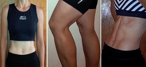 raining progress photos, abs and legs