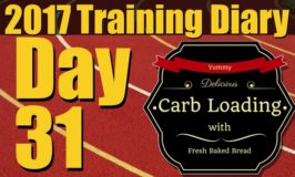 2017 Training Diary: Day 31 – Chest, Bi's, Tri's and some Carb Loading!